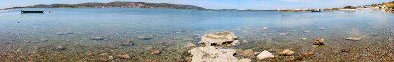 Panoramique de la berge sud du lac d'Ingril