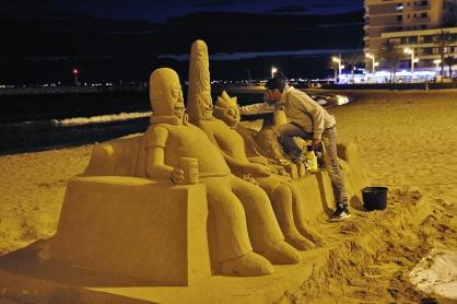 Sand Simpsons