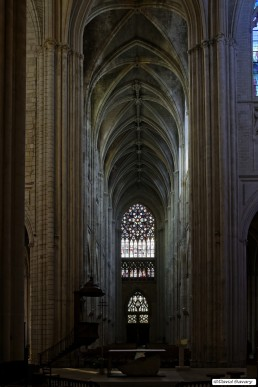 Bras nord du trancept, au dessus de l'autel à Saint-Martin