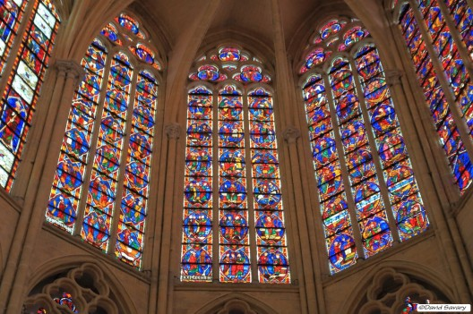 Détails de vitraux du Choeur